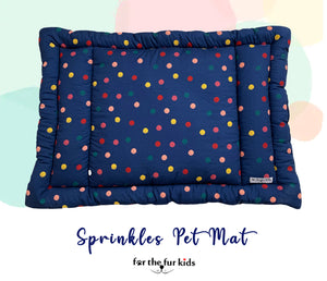 Pet Mats: Sprinkles Soft and Durable Pet Mat by For The Fur Kids