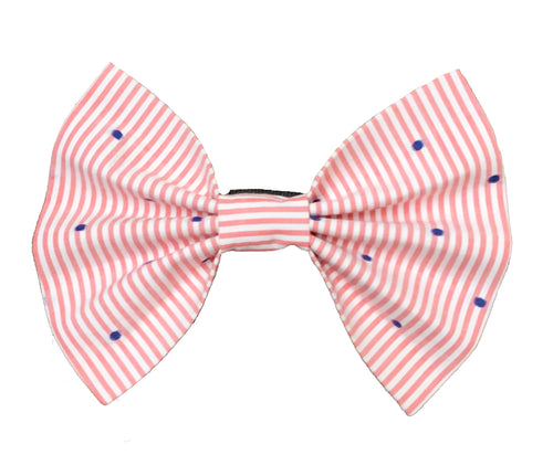 Bow Ties for Dogs: Striped and Polka Pink Bow Tie for Pets