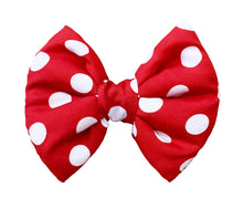 Load image into Gallery viewer, Bow Ties for Dogs: Red and White Polka Dot Fluffy Bow
