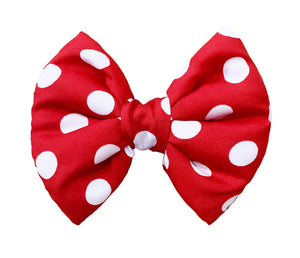 Bow Ties for Dogs: Red and White Polka Dot Fluffy Bow