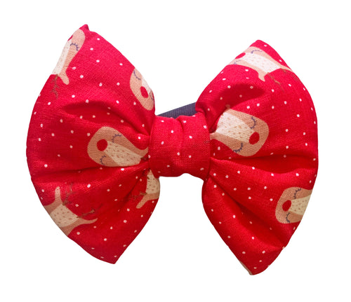 Dog Bow Tie for Christmas: Rudolph Dog Bow