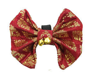 Bow Ties for Cats: Red Festive Bow with Bells