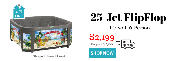 Flip Flop 6-Person Hot Tub, 110v Plug-N-Play is now 45% off! Only $2199 with shipping, steps, and cover included!