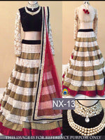 White & Blacklehenga Choli