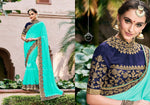 Sea Green Pure Georgette Saree