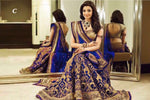 Royal Blue Georgette Lehengha Choli