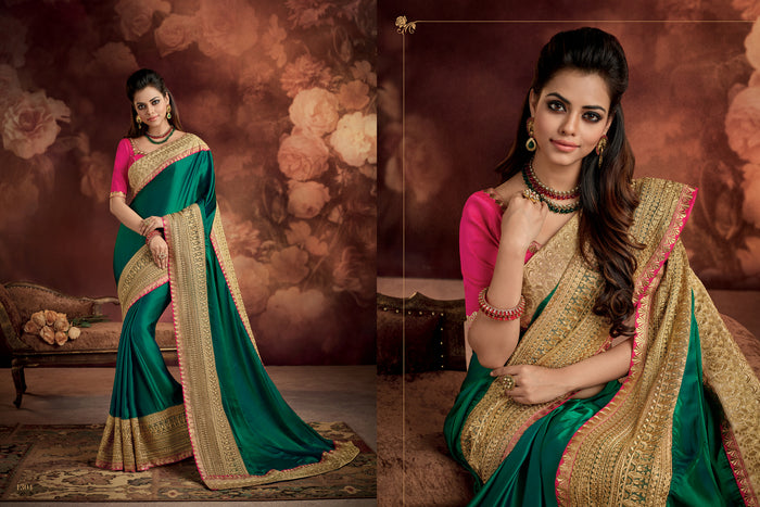 Green Cadbury Silk Saree