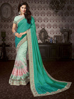 Green Art Silk / Net Saree