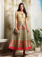 Multicolor Banarasi Silk Brocade Silk Readymade Suit