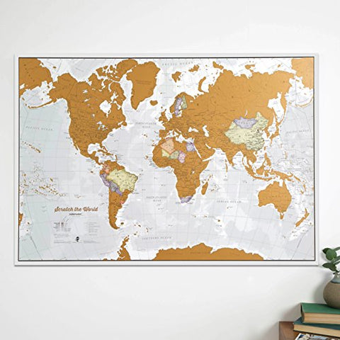 Maps International Scratch the World® Travel Map – Scratch Off World on key club posters, tear off posters, peel off posters, kick off posters, dance off posters,