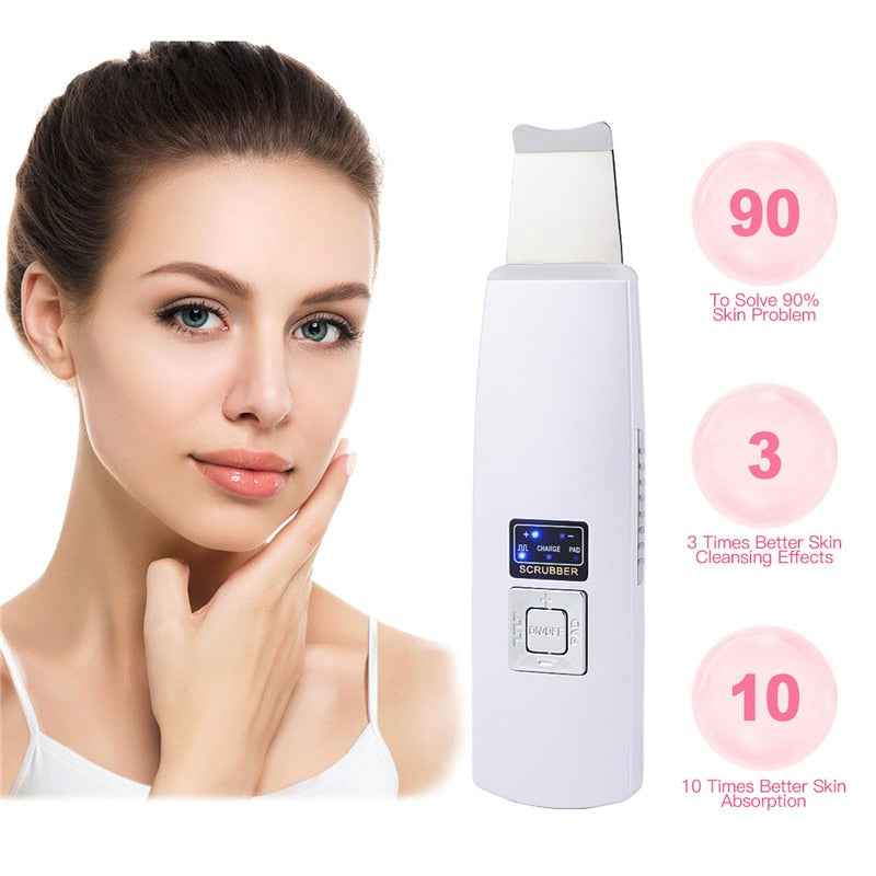 Ultrasonic Deep Face Cleaning Machine Skin Scrubber Remove Dirt Blackhead  Reduce Wrinkles and spots Facial  Whitening Lifting
