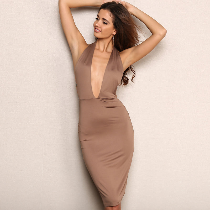 Elegant Strapless Maxi Midi Dress