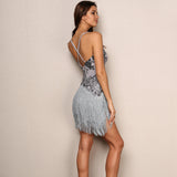 Tassel Backless Sequin Dress