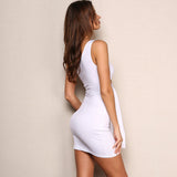 One-Shoulder Hollow Out Mini Dress