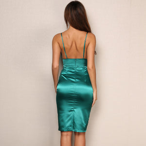 Backless Deep V Neck Dress