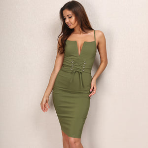 V Neck Casual Dress