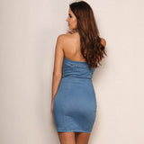 Denim Strapless Mini Dress