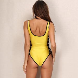 Hollow Out String Monokini