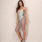 Sequin Transparent Bodycon Dress