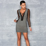 Long Sleeve Backless Mini Dress
