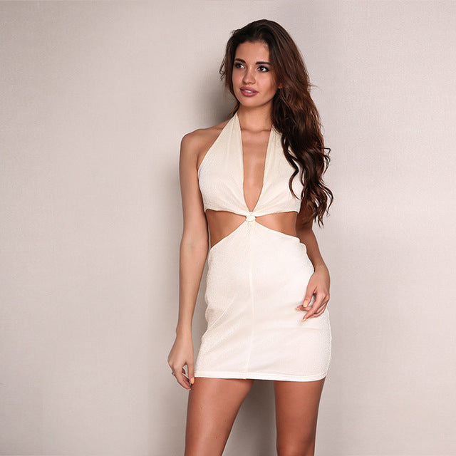 Sleeveless Strap Bodycon Mini Dress