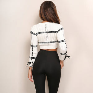 Casual Striped Pullover Long Sleeve Knitted Sweater Top