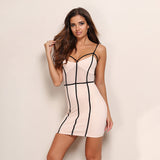 Straps Backless Sleeveless Vintage Bodycon Dress