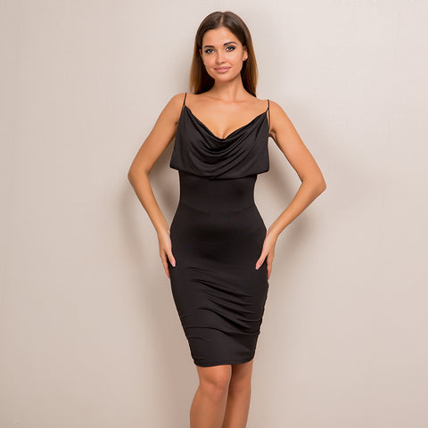 V Neck Strapless Bodycon Dress