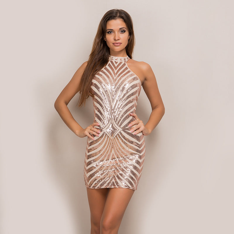Sequin Hip Package Party Dress
