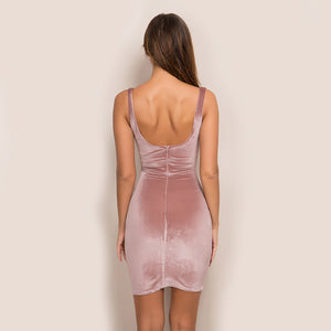 Backless Straps  Velvet Dress