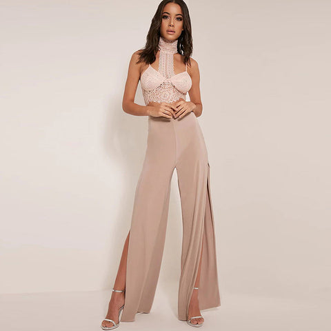 Wide Leg Palazzo Long Capri Casual Loose Side Split Pants