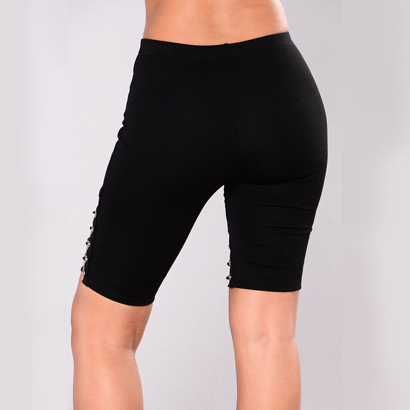 Bandage Hollow Out High Waist Shorts