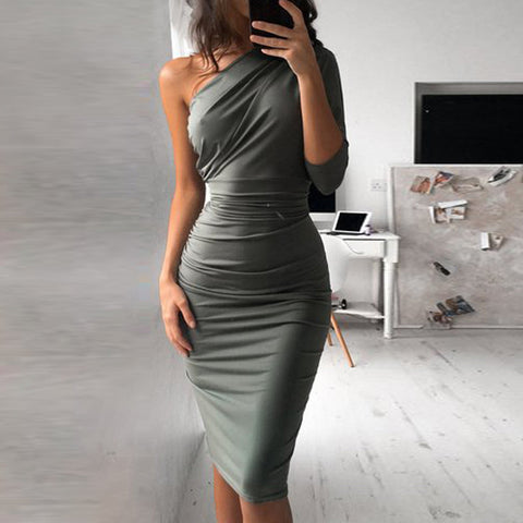 Off Shoulder Vintage Bandage Bodycon Dress