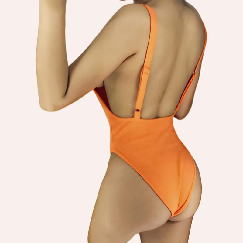 Strap Hollow Out Bathing Suit