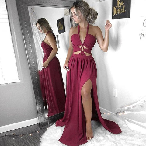 Halter Sleeveless Long Dress
