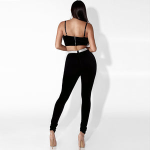 Strapless Two piece tracksuit