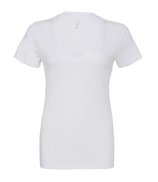 Bella Jersey Deep V Neck T-Shirt - t-shirt-printing-uk