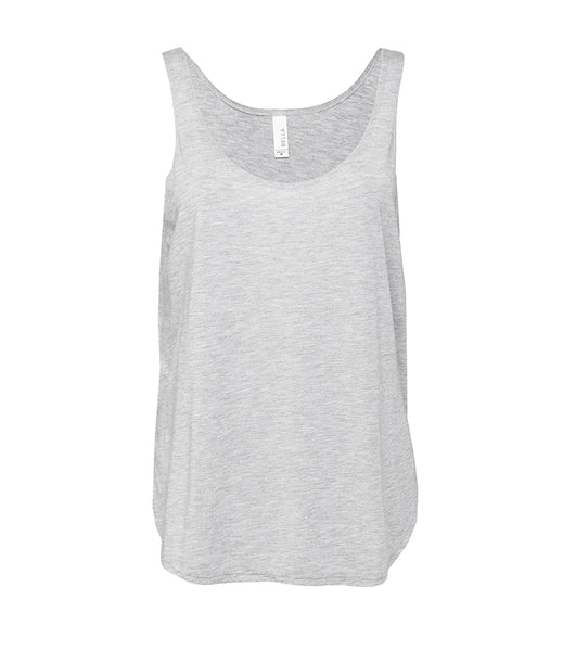 Bella Flowy Side Slit Tank Top - T Shirt Printing UK
