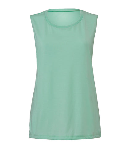 Bella Flowy Scoop Muscle Tank Top - T Shirt Printing UK