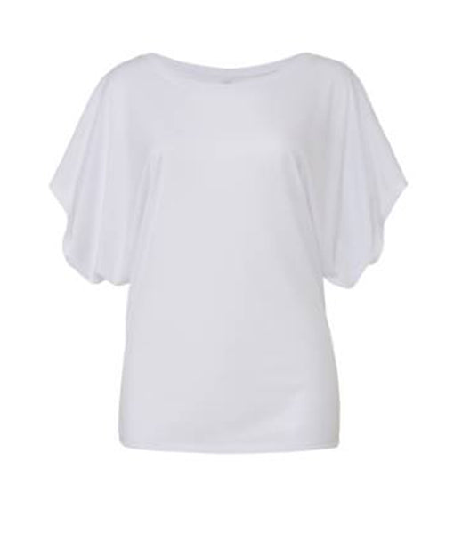 Bella Flowy Draped Sleeve Dolman T-Shirt - T Shirt Printing UK