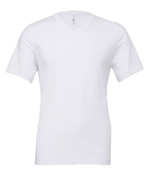 Canvas Unisex Jersey V Neck T-Shirt - t-shirt-printing-uk