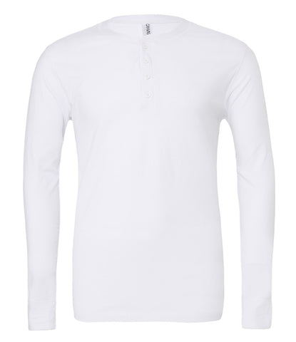 Canvas Long Sleeve Henley T-Shirt - T Shirt Printing UK