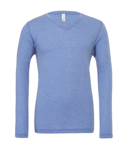 Canvas Unisex Long Sleeve Tri-Blend V Neck T-Shirt - T Shirt Printing UK