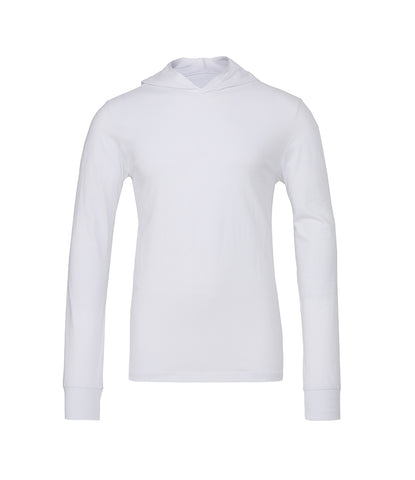 Canvas Unisex Long Sleeve Jersey Hooded T-Shirt - t-shirt-printing-uk