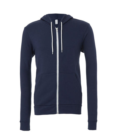 Canvas Unisex Full Zip Hoodie - t-shirt-printing-uk