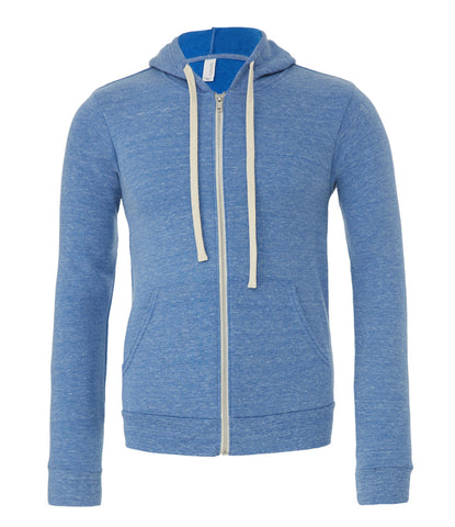 Canvas Unisex Tri-Blend Full Zip Hoodie - t-shirt-printing-uk