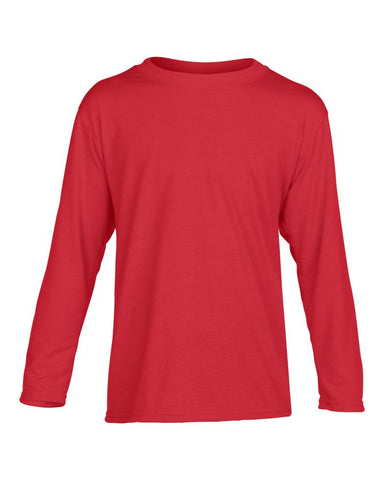 Gildan Kids Performance® Long Sleeve T-Shirt - T Shirt Printing UK