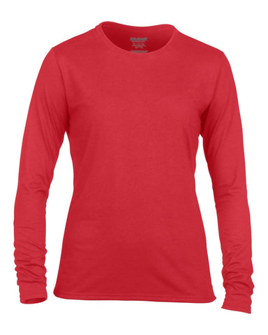 Gildan Ladies Performance® Long Sleeve T-Shirt - t-shirt-printing-uk