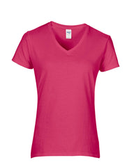 Gildan Ladies Premium Cotton® V Neck T-Shirt - t-shirt-printing-uk