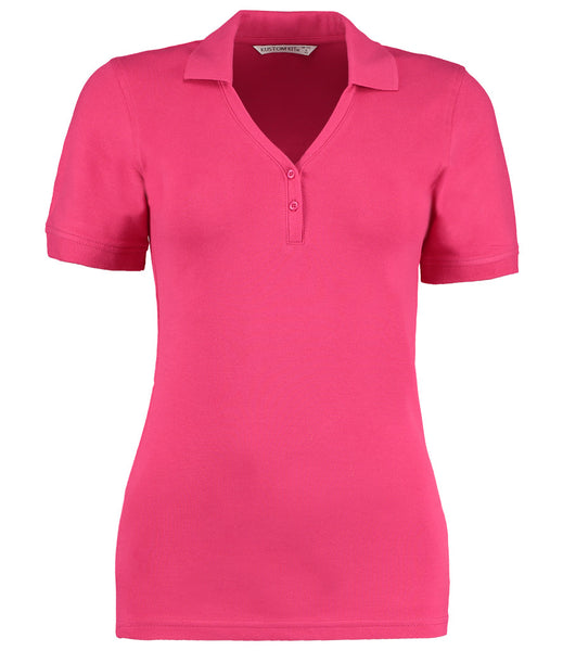 Kustom Kit Sophia Comfortec® V Neck Polo Shirt - T Shirt Printing UK